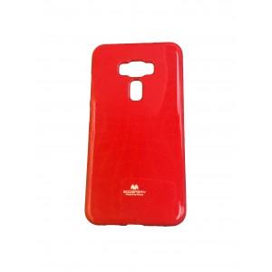 Силиконовый глянцевый непрозрачный чехол для Asus ZenFone 3 5.5 Красный