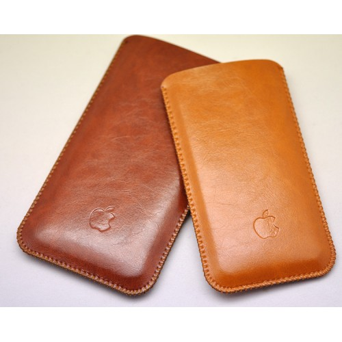 Кожаный вощеный мешок для Iphone 7 Plus/8 Plus