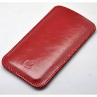 Кожаный вощеный мешок для Iphone 7 Plus Красный
