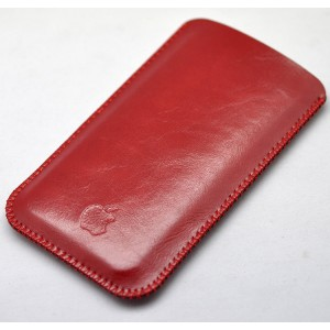 Кожаный вощеный мешок для Iphone 7 Plus/8 Plus Красный