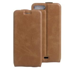 Чехол вертикальная книжка на силиконовой основе с отсеком для карт на магнитной защелке для Iphone 7 Plus/8 Plus Коричневый