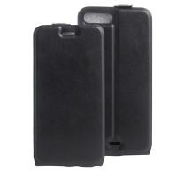 Чехол вертикальная книжка на силиконовой основе с отсеком для карт на магнитной защелке для Iphone 7 Plus  Черный