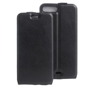 Чехол вертикальная книжка на силиконовой основе с отсеком для карт на магнитной защелке для Iphone 7 Plus/8 Plus Черный