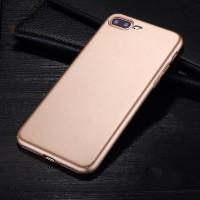 Пластиковый непрозрачный матовый чехол с улучшенной защитой элементов корпуса для Iphone 7 Plus Бежевый