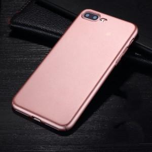 Пластиковый непрозрачный матовый чехол с улучшенной защитой элементов корпуса для Iphone 7 Plus/8 Plus Розовый
