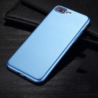 Пластиковый непрозрачный матовый чехол с улучшенной защитой элементов корпуса для Iphone 7 Plus Голубой