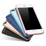 Пластиковый непрозрачный матовый чехол с улучшенной защитой элементов корпуса для Iphone 7 Plus