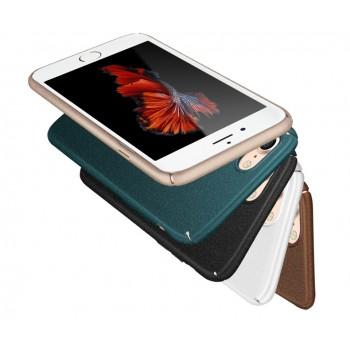 Пластиковый непрозрачный матовый чехол с повышенной шероховатостью для Iphone 7 Plus/8 Plus