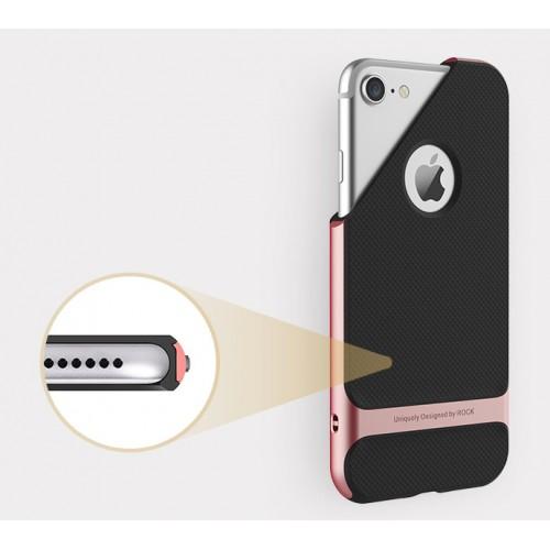 Противоударный двухкомпонентный силиконовый матовый непрозрачный чехол с поликарбонатными вставками экстрим защиты для Iphone 7 Plus/8 Plus Серый