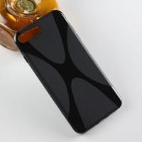Силиконовый матовый полупрозрачный чехол с дизайнерской текстурой X для Iphone 7 Plus