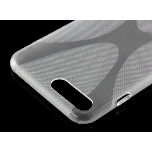 Силиконовый матовый полупрозрачный чехол с дизайнерской текстурой X для Iphone 7 Plus/8 Plus