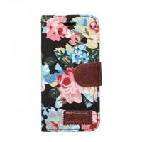 Чехол портмоне подставка на силиконовой основе с полноповерхностным принтом на магнитной защелке для Iphone 7/8 Черный
