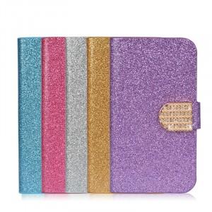 Чехол горизонтальная книжка подставка на пластиковой основе с отсеком для карт на дизайнерской магнитной защелке для Iphone 7