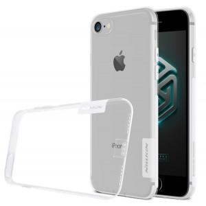 Силиконовый матовый полупрозрачный чехол с улучшенной защитой элементов корпуса (заглушки) для Iphone 7/8 Белый