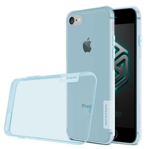 Силиконовый матовый полупрозрачный чехол с улучшенной защитой элементов корпуса (заглушки) для Iphone 7/8