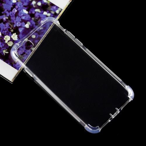 Силиконовый матовый полупрозрачный чехол с улучшенной защитой элементов корпуса (заглушки) для Iphone 7/8 Розовый