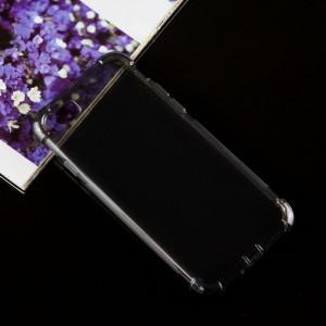 Силиконовый матовый полупрозрачный чехол с улучшенной защитой элементов корпуса (заглушки) для Iphone 7/8 Черный