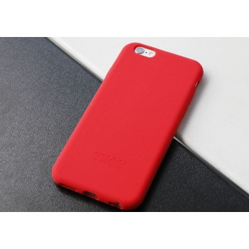 Силиконовый матовый непрозрачный нескользящий премиум софт-тач чехол для Iphone 7/8 Красный
