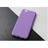 Силиконовый матовый непрозрачный нескользящий премиум софт-тач чехол для Iphone 7/8 Фиолетовый