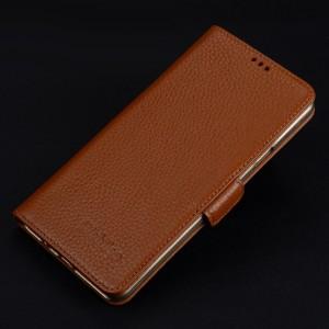 Кожаный чехол портмоне подставка (премиум нат. кожа) с крепежной застежкой для Iphone 7/8