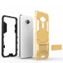 Противоударный двухкомпонентный силиконовый матовый непрозрачный чехол с поликарбонатными вставками экстрим защиты с встроенной ножкой-подставкой для Asus ZenFone 3 5.2