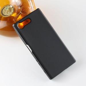 Силиконовый матовый полупрозрачный чехол для Sony Xperia X Compact Черный