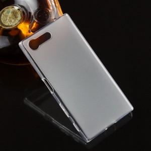 Силиконовый матовый полупрозрачный чехол для Sony Xperia X Compact Белый