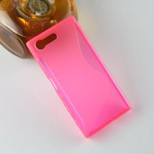 Силиконовый матовый полупрозрачный чехол с дизайнерской текстурой S для Sony Xperia X Compact