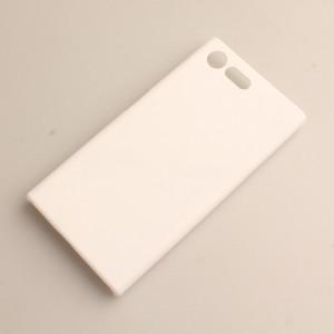 Пластиковый непрозрачный матовый чехол для Sony Xperia X Compact Белый