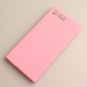 Пластиковый непрозрачный матовый чехол для Sony Xperia X Compact Розовый