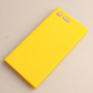 Пластиковый непрозрачный матовый чехол для Sony Xperia X Compact Желтый