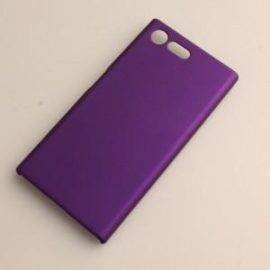 Пластиковый непрозрачный матовый чехол для Sony Xperia X Compact Фиолетовый