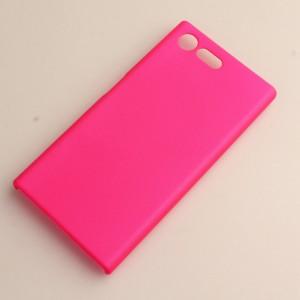 Пластиковый непрозрачный матовый чехол для Sony Xperia X Compact Пурпурный