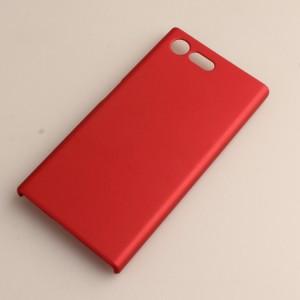 Пластиковый непрозрачный матовый чехол для Sony Xperia X Compact Красный