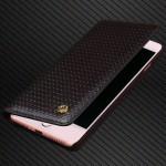 Кожаный чехол горизонтальная книжка (премиум нат. вощеная кожа) для Iphone 7