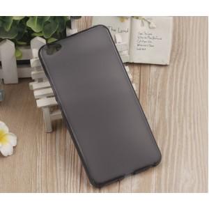Силиконовый матовый полупрозрачный чехол для Meizu U20  Черный