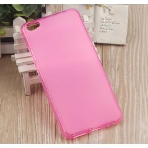 Силиконовый матовый полупрозрачный чехол для Meizu U20  Розовый