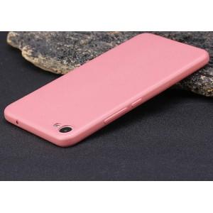 Силиконовый матовый непрозрачный чехол для Meizu U20 Розовый