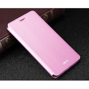 Чехол горизонтальная книжка подставка на силиконовой основе текстура Металлик для Meizu U20 Пурпурный