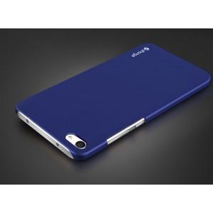 Пластиковый непрозрачный матовый чехол для Meizu U20  Синий