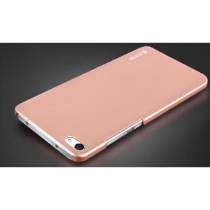 Пластиковый непрозрачный матовый чехол для Meizu U20  Розовый