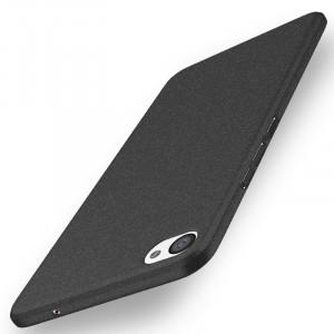 Пластиковый непрозрачный матовый чехол с повышенной шероховатостью и допзащитой торцев для Meizu U20  Черный