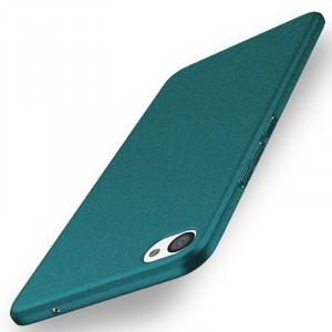 Пластиковый непрозрачный матовый чехол с повышенной шероховатостью и допзащитой торцев для Meizu U20  Зеленый