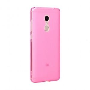 Силиконовый матовый полупрозрачный чехол для Xiaomi RedMi Note 4 Розовый