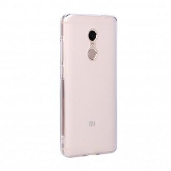 Силиконовый матовый полупрозрачный чехол для Xiaomi RedMi Note 4 Белый