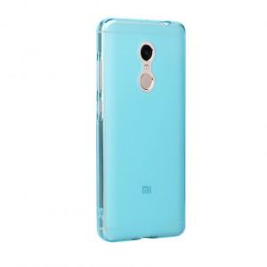 Силиконовый матовый полупрозрачный чехол для Xiaomi RedMi Note 4 Голубой