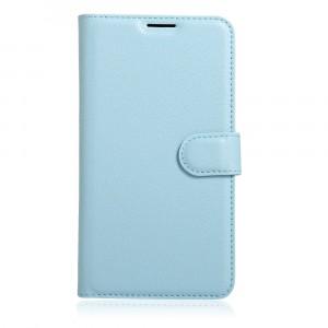Чехол портмоне подставка на силиконовой основе на магнитной защелке для Xiaomi RedMi Note 4 Голубой