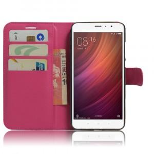 Чехол портмоне подставка на силиконовой основе на магнитной защелке для Xiaomi RedMi Note 4