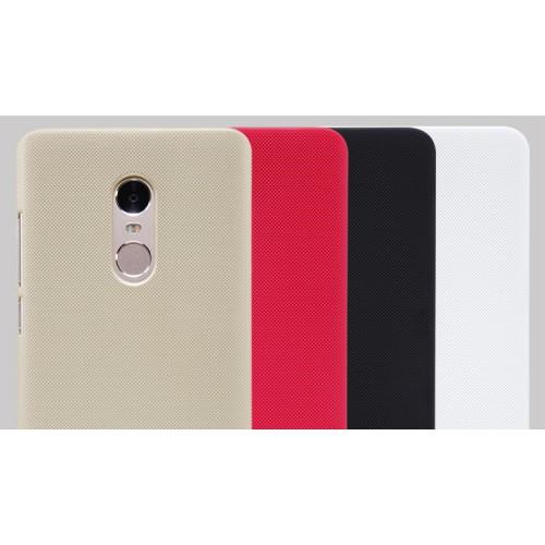 Пластиковый матовый нескользящий премиум непрозрачный чехол для Xiaomi RedMi Note 4 Черный