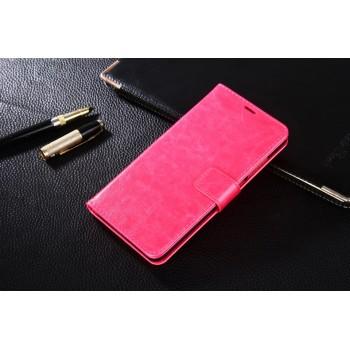 Глянцевый чехол портмоне подставка на магнитной защелке для Xiaomi RedMi Note 4 Пурпурный